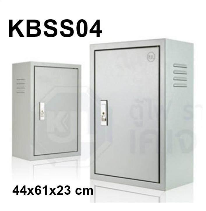 **ออเดอร์ละ 1 ใบ** ตู้ไซด์ธรรมดา ตู้เหล็ก สีเทา KBSS เบอร์ 04