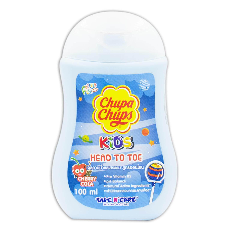 CHUPA CHUPS จูปาจุ๊ปส์คิดส์ HEAD TO TOE ครีมมอาบน้ำ+สระผม กลิ่น CHERRYCOLA (MINI SIZE) 100 มล.