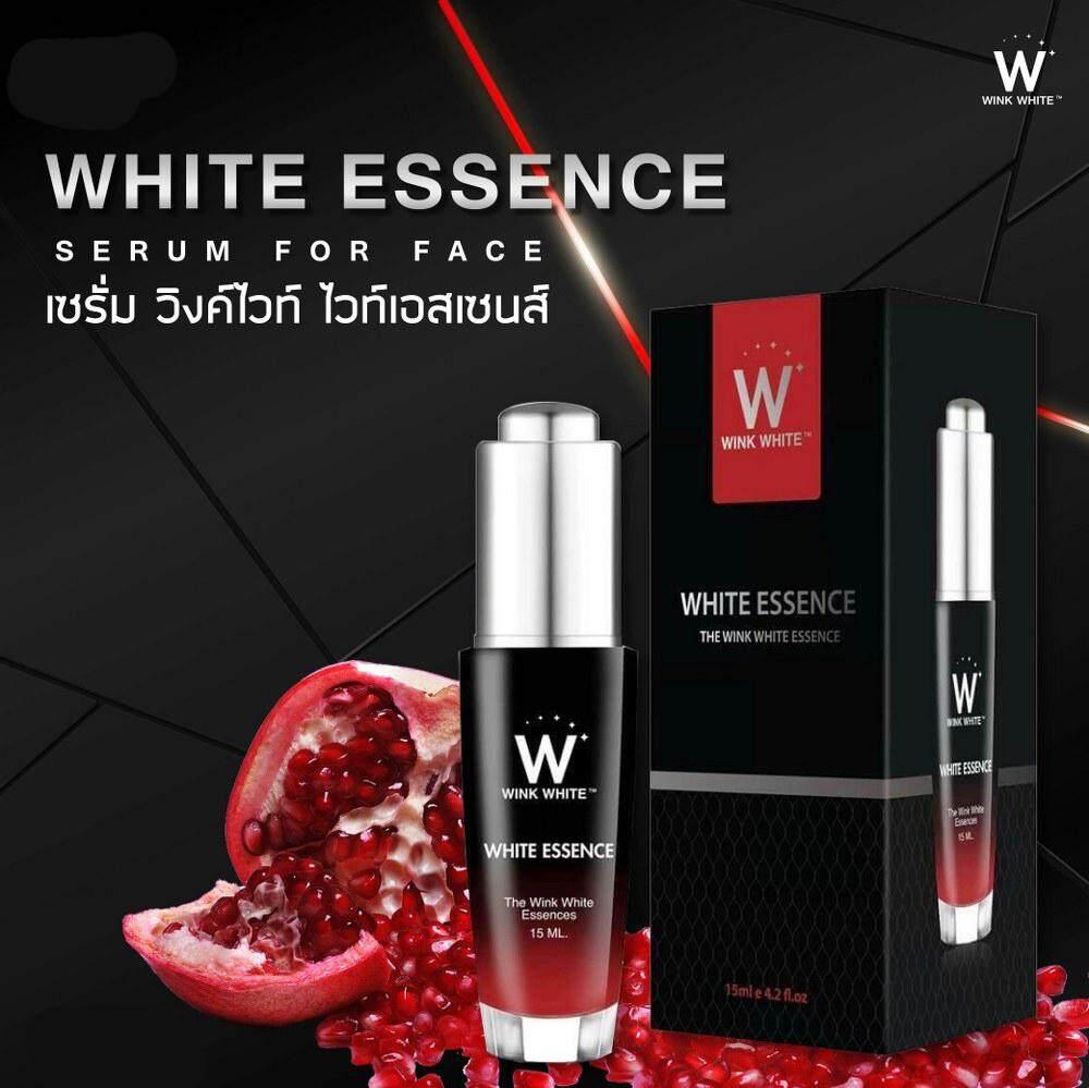 ไวท์เอสเซนส์เซรั่ม( Wink White) บำรุงผิวหน้า วิงค์ไวท์ (ขนาด 15 มล.) ผิวสวย ปรับผิวกระจ่างใส ในขวดเดียวเรียบเนียน ลดจุดด่างดำ( 1 กล่อง)