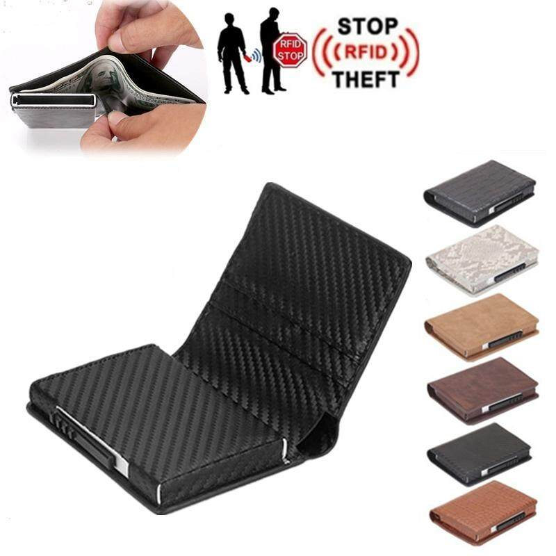 Anti Theft Credit Card Holder Wallet Aluminium Men Women Metal MIni Wallet for Cards Business Slim Card Package RFID Protector Smart Wallet