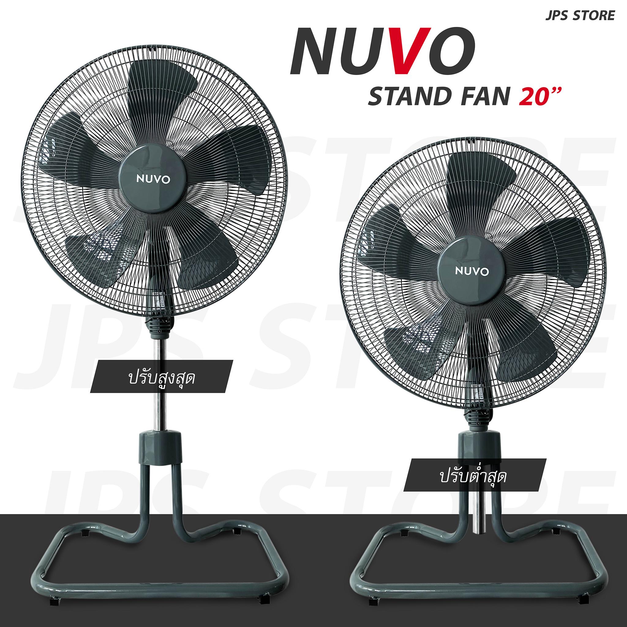 พัดลม 20 นิ้ว Nuvo Turbo Fan รับประกันมอเตอร์ 3 ปีเต็ม.