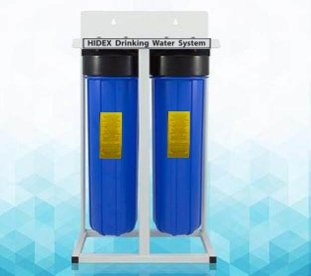 """เครื่องกรองน้ำไฮเด๊กซ์ Hidex 20""""big Bule 2 Stage By Hidex Water."""