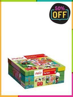 LUDATTICA ของเล่นเด็ก เสริมพัฒนาการ จิ๊กซอว์ตาดุ๊กดิ๊ก - สัตว์ฟาร์ม รุ่น  58037