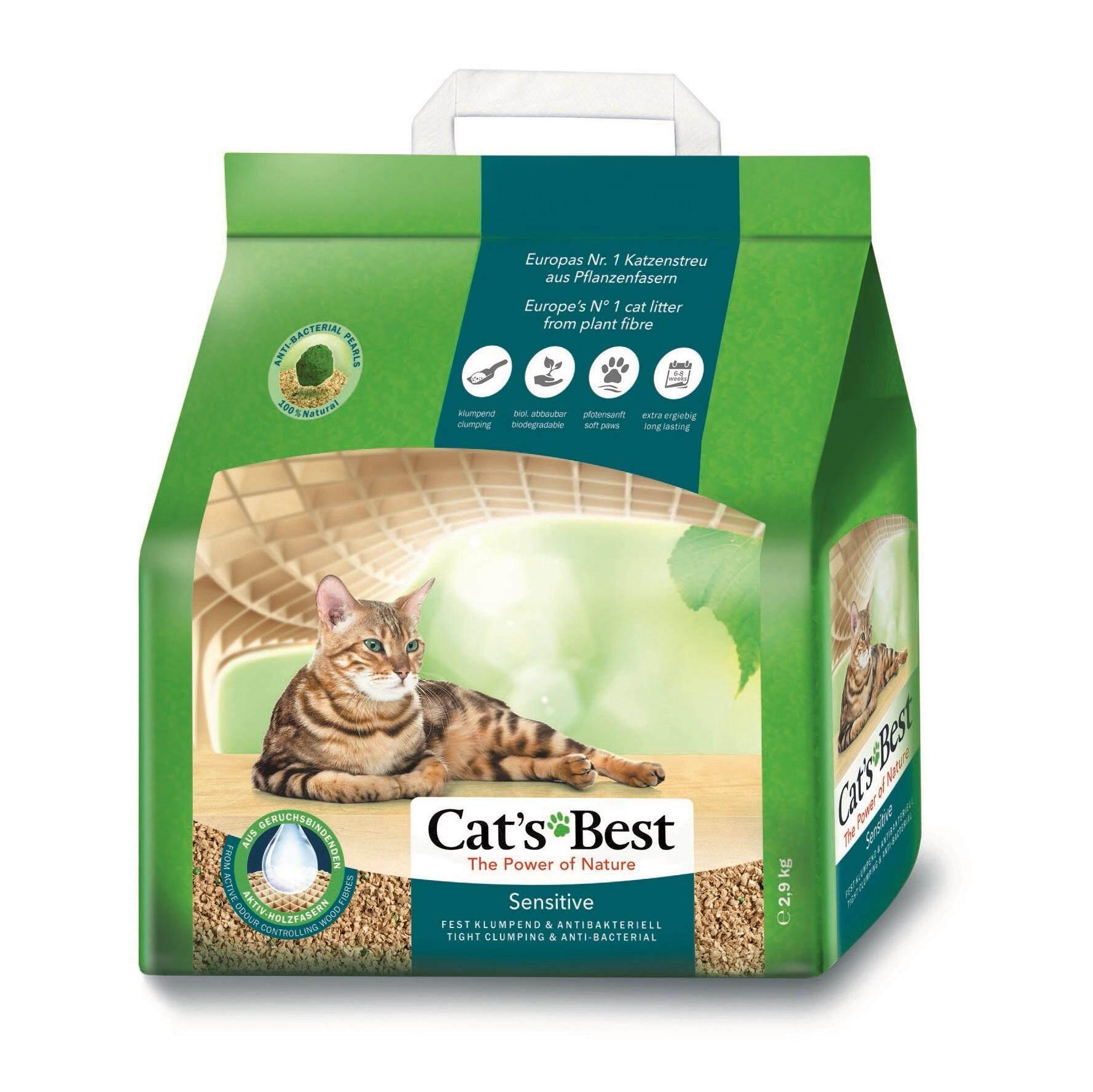 Cats Best Sensitive ทรายแมว 8 ลิตร (2.9 กก.).