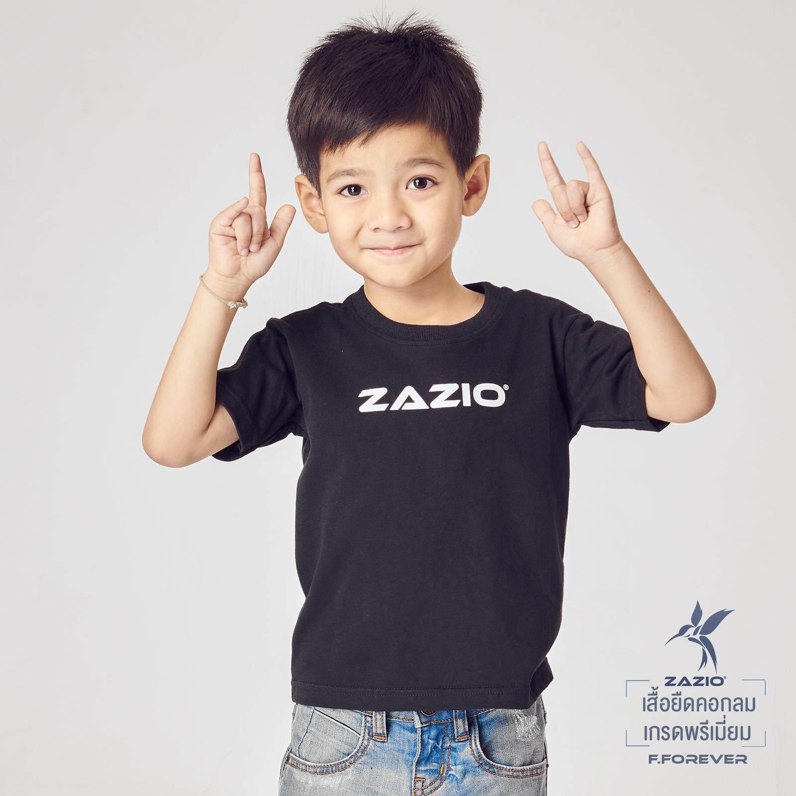 เสื้อยืดเด็ก : เสื้อยืดคอกลมเด็ก เกรดพรีเมี่ยม ZAZIO สีดำ รุ่น F.Forever