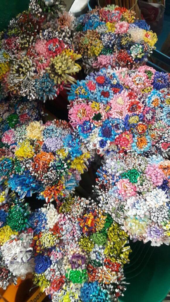 ไม้กระฐิน ตกแต่งอย่างดีเป็นรูปดอกไม้สวยงามสำหรับเสียบเงิน จำนวน 100 ไม้ By Thailand Food Shop.
