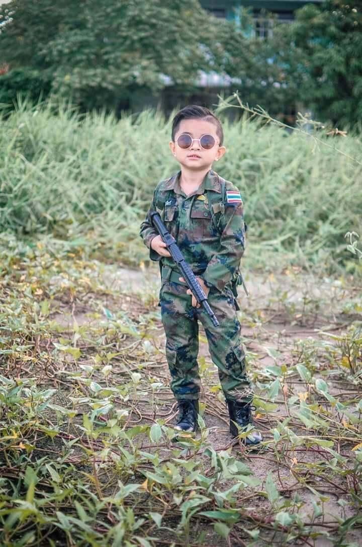 รีวิว ชุดทหารเด็ก ชุดทหาร ชุดเด็ก ชุดอาชีพเด็ก