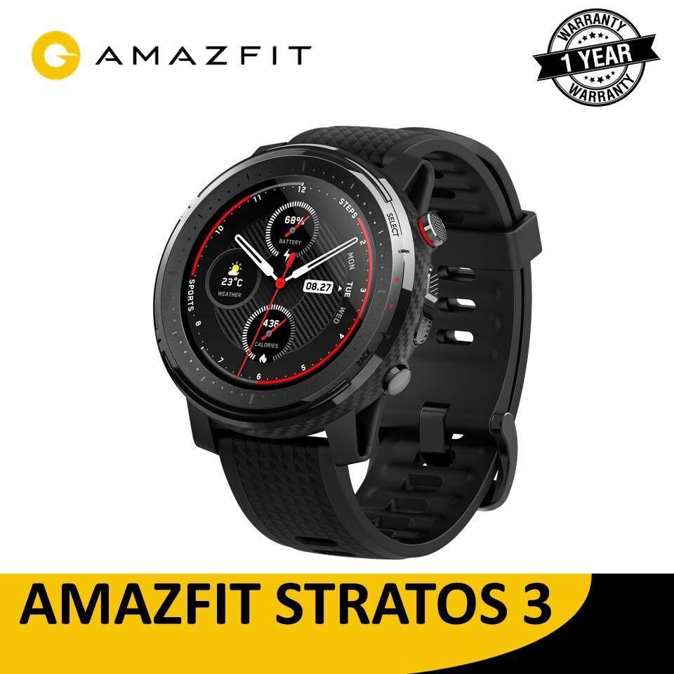 Amazfit Stratos 3 Smartwatch กันน้ำได้ แบตอึดทน มี Gps ในตัว นาฬิกาออกกำลังกาย (สมาร์ทวอทช์ นาฬิกาอัจฉริยะ).