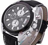 ขาย Megir Quartz Waterproof Chronograph Watch นาฬิกาข้อมือผู้ชาย สีน้ำตาลเข้ม สายหนังแท้ รุ่น V01 Blk ฺbb