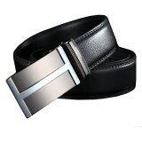 ราคา Men New Style Grade Cowskin Leather Auto Buckle Belt Mbtk61 Black ถูก