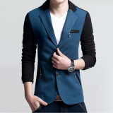 ราคา Men Slim Fit Fashion Cotton Blazer Suit Jacket Blue ออนไลน์