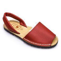 Menorquinas รองเท้าแตะแบบลำลอง Red ใหม่ล่าสุด