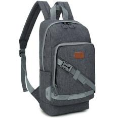 ขาย Men S Bags กระเป๋าแท็บเล็ต Shoulder Tablet Case Bag กระเป๋าใส่พาสปอร์ตเดินทาง กระเป๋าเป้ใบเล็ก สะพายหลัง สำหรับผู้ชาย สี เทาเข้ม Men S Bags เป็นต้นฉบับ