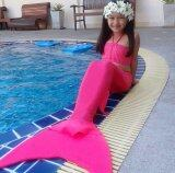 ซื้อ ชุดว่ายน้ำนางเงือกสำหรับเด็กแบบผ้ายืดธรรมดา เซ็ต 2 ชิ้น และ สร้อยไข่มุก สีชมพู ออนไลน์