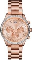 Michael Kors Brinkley Chronograph Rose Dial Rose Gold Tone Ladies Watch Mk6204 ใหม่ล่าสุด