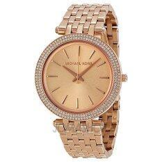 ขาย ซื้อ ออนไลน์ Michael Kors Darci Rose Gold Dial Pave Bezel Ladies Watch Mk3192