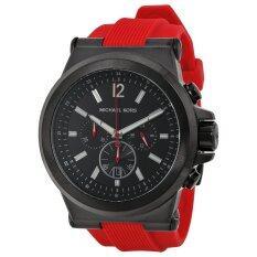 ซื้อ Michael Kors Dylan Chronograph Black Dial Red Silicone Men S Watch Mk8382 ออนไลน์ ถูก