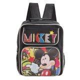 โปรโมชั่น Mickey Mouse Disney Mickey Mouse กระเป๋าเป้สะพายหลัง กระเป๋านักเรียน สีดำ