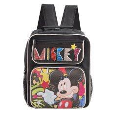 ราคา Mickey Mouse Disney Mickey Mouse กระเป๋าเป้สะพายหลัง กระเป๋านักเรียน สีดำ ไทย