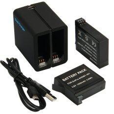 โปรโมชั่น Micro Usb Dual Charger 2X1200Mah Battery For Gopro Hero 4 Sport Camera ถูก