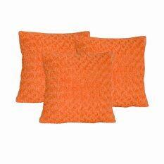 ราคา Midori Discount Shopหมอนอิง18X18นิ้ว Orange Soft Roseแพ็คคู่ แถมฟรี หมอนอิงOrange Soft Rose 1ใบ Midori ออนไลน์