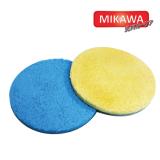 ขาย ซื้อ Mikawa แผ่นไมโครไฟเบอร์ขนาด 6 นิ้ว แพคคู่ คละสี ใช้กับเครื่องขัดสีรถ Mikawa Gen3