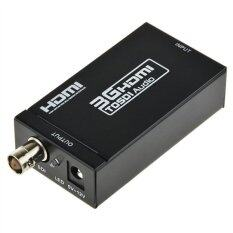 ขาย Mini Hdmi To Sdi Sd Sdi Hd Sdi 3G Sdi Converter Hd 1080P Video Converter With Eu Plug Power Adapter Black เป็นต้นฉบับ