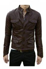 ซื้อ Minime เสื้อแจ็คเก็ตหนัง รุ่น Mjg04 สีน้ำตาล Minime เป็นต้นฉบับ