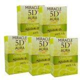 ส่วนลด Miracle 5D Aura Gluta Soap สบู่ระเบิดสิว ฝ้า ออร่าใน 5วัน ขนาด 80กรัม 5ก้อน Miracle 5D Aura ใน ไทย
