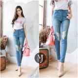 ส่วนลด Miss Jean กางเกงยีนส์ Skinny เอวสูง รุ่น Mj07 16 สียีนส์กลาง Unbranded Generic ใน Thailand
