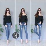 ราคา Miss Jean กางเกงยีนส์ Skinny เอวต่ำ รุ่น Mj07 18 สียีนส์กลาง Unbranded Generic ออนไลน์