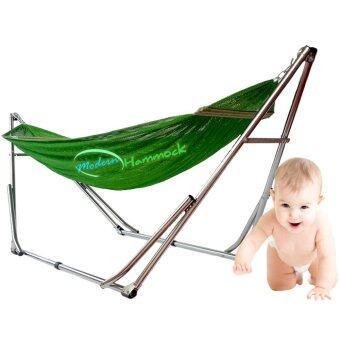 Modern Hammock เปลนอนเด็กแบบเปลญวนหรือเปลพับได้ขนาดใหญ่ ( สีเขียว)