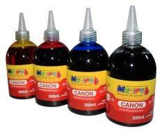 ราคา Modify Ink หมึกเติมTank สำหรับเครื่อง Canon ทุกรุ่น ขนาด 300X4Ml Black Cyan Maganta Yellow เป็นต้นฉบับ Canon