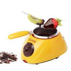 ราคา Momma เครื่อง หม้อ พร้อม เตา ละลาย ช็อคโกแลต ฟองดูว์ สีเหลือง Yellow Chocolatier Melter Pot Chocolate Fondue Momma ไทย