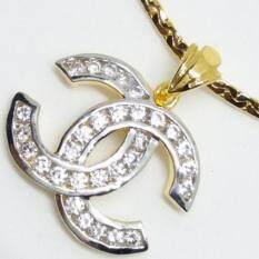 ขาย Mono Jewelry สร้อยคอพร้อมทองจี้ลายไขว้ เงิน 925 หุ้มทองคำแท้ 24K รุ่น จี้ลายไขว้ M019T ใหม่