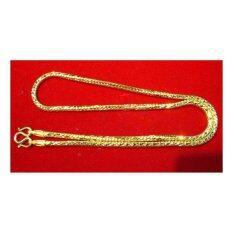 ขาย Mono Jewelry สร้อยคอทองลายเรียบ น้ำหนัก ๒ บาท งานทองไมครอน ชุบเศษทองคำแท้ 96 5 ยาว 24 นิ้ว รุ่นJs033 Mono
