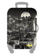 Mori ผ้าคลุมกระเป๋าเดินทาง ผ้ายืด Luggage Cover Suitcase Cover Spandex ลาย Tokyo Night Size L สำหรับกระเป๋าเดินทางไซส์ 27 30 นิ้ว เป็นต้นฉบับ