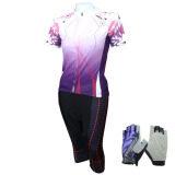 ซื้อ Morning ชุดปั่นจักรยานผู้หญิง กางเกงขา 5 ส่วน St สีม่วงฟรีถุงมือฟรีไซด์ ลายดอกไม้ สีม่วง ใหม่ล่าสุด