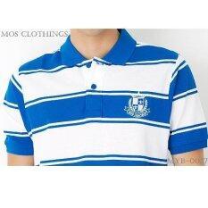 โปรโมชั่น Mos Heritage เสื้อโปโลชาย Polo T Shirt รุ่น Myb 0027 น้ำเงินสด Mos Heritage ใหม่ล่าสุด