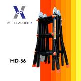 ซื้อ Multi Ladder X บันไดอลูมิเนียม เอนกประสงค์ 4 พับ Advance Md 36 ทรงพาด ยาว 5 เมตร ทรง A 2 5 เมตร ออนไลน์ กรุงเทพมหานคร