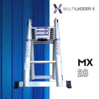 Multi Ladder X บันไดอลูมิเนียม ยืดหดได้ ทรงพาด ยาว 5.6 เมตร ทรง A ยาว 2.8 เมตร รุ่น MX-28