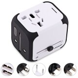ราคา Multipurpose Travel Adapter International Plug Dual Usb Charging Port Universal Ac Socket White ใหม่ ถูก