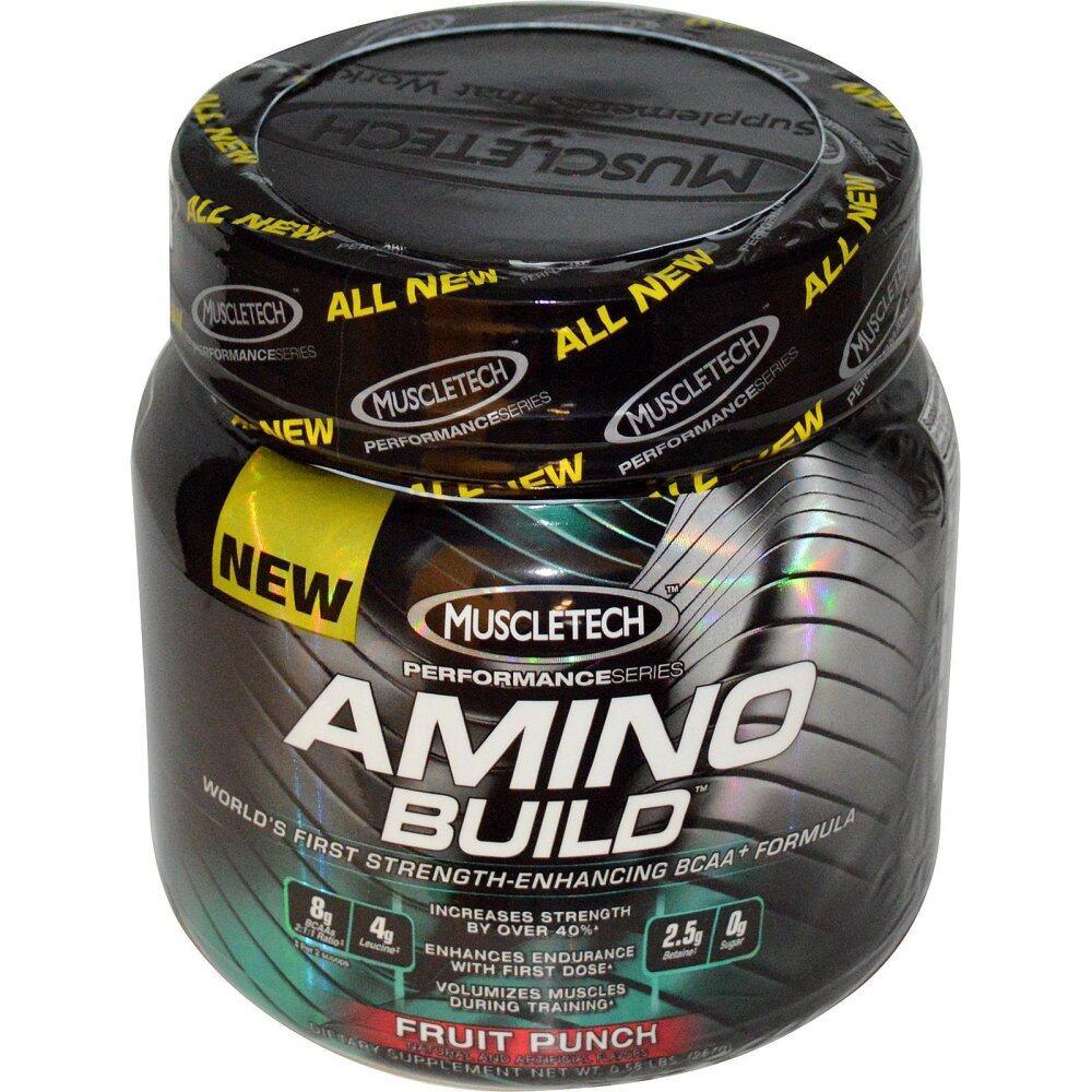 MuscleTech Amino Build™ BCAA+ Formula-Fruit Punch