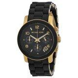 ราคา นาฬิกาข้อมือสุภาพสตรี Michael Kors Women S Mk5191 Runway Black Stainless Steel Watch ใหม่ ถูก