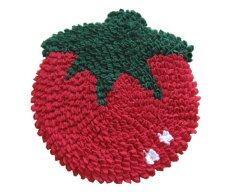 Namocarpet พรมเช็ดเท้า แฟนซี ลายมะเขือเทศ สีแดง ขนาด 45X43 ซม เป็นต้นฉบับ