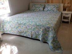 ซื้อ Nampet Shop ชุดผ้าคลุมเตียงขนาดใหญ่พิเศษสไตล์ยุโรป เขียว ม่วง ออนไลน์