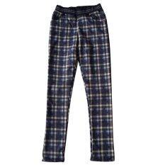 ขาย ซื้อ Nampet Shop กางเกงเลคกิ้งกันหนาวลายสก็อต