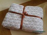 ราคา Nampet Shop ผ้าห่ม European Cotton Jacquard Knitting Blanket ขนาด 130X160 Cm Gray เป็นต้นฉบับ