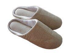 ขาย Nampet Shop รองเท้าผ้าคอตต้อนลินิน แบบหุ้มปลายเท้า สำหรับใส่เดินในบ้าน สีครีม ถูก ใน Thailand