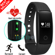 Nanotech 2016 Fitness Bluetooth smart wristband heart rate monitor fitbit HR activity compatible with Android and ios (สีดำ)